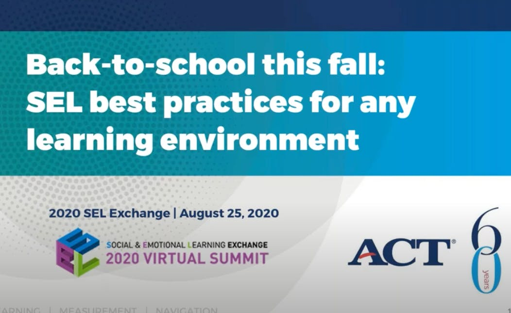 Back-to-School This Fall: SEL Best Practices for Any Learning Environment