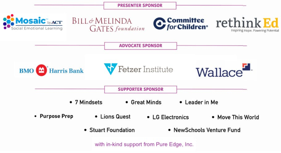 A list of CASEL Sponsors for the SELX 2020 event.