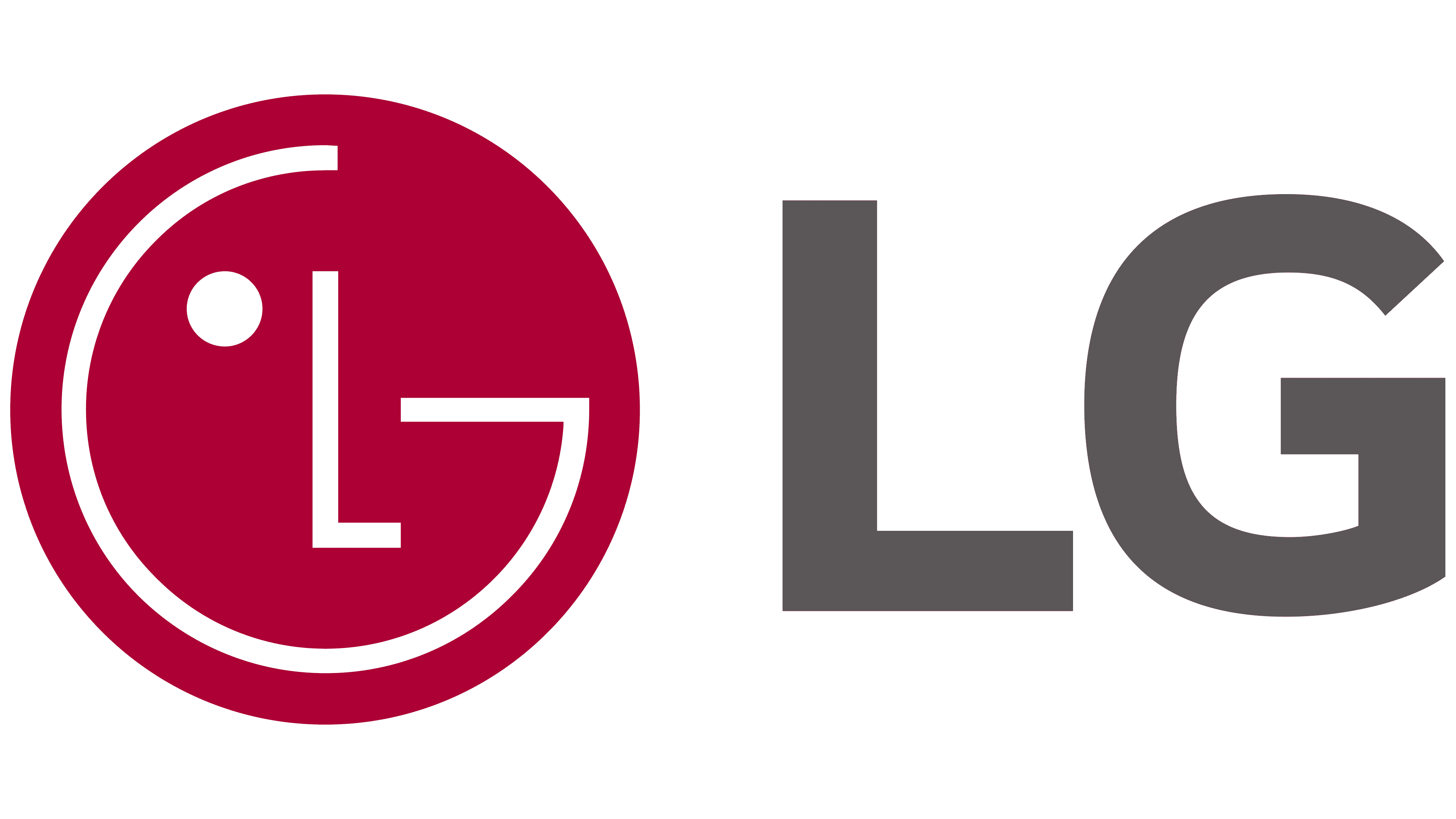 The logo for LG.